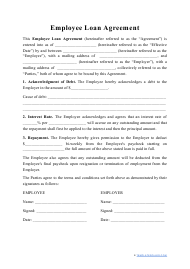 """Employee Loan Agreement Template"""