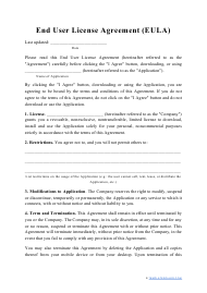 """End User License Agreement Template"""