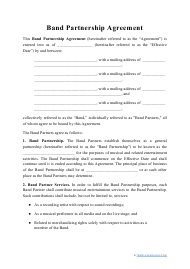 """Band Partnership Agreement Template"""