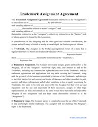"""""""Trademark Assignment Agreement Template"""""""