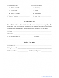 """""""Real Estate Appraisal Form"""", Page 2"""