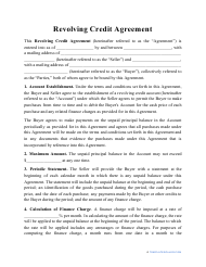 """Revolving Credit Agreement Template"""