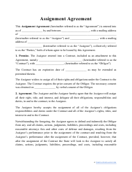 """Assignment Agreement Template"""
