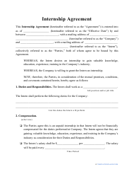 """Internship Agreement Template"""