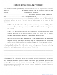 """""""Indemnification Agreement Template"""""""