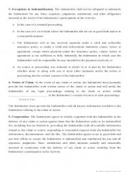 """""""Indemnification Agreement Template"""", Page 2"""