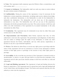 """""""Indemnification Agreement Template"""", Page 3"""
