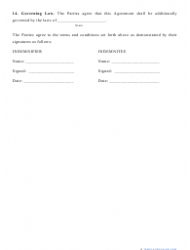 """""""Indemnification Agreement Template"""", Page 4"""