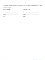 """""""Hold Harmless Agreement Template"""", Page 3"""