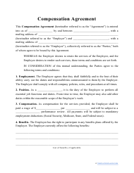 """Compensation Agreement Template"""