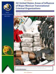 """Form DEA-DCT-DIR-065-15 """"United States: Areas of Influence of Major Mexican Transnational Criminal Organizations"""""""