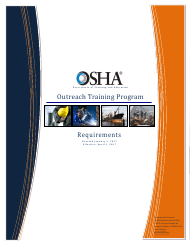 """Outreach Training Program Requirements"""