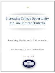 """""""Increasing College Opportunity for Low-Income Students"""""""