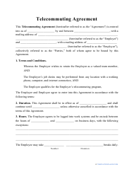 """Telecommuting Agreement Template"""