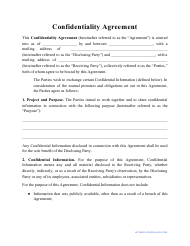 """""""Confidentiality Agreement Template"""""""