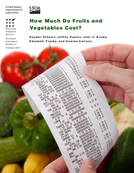 """""""Economic Information Bulletin 71: How Much Do Fruits and Vegetables Cost?"""""""