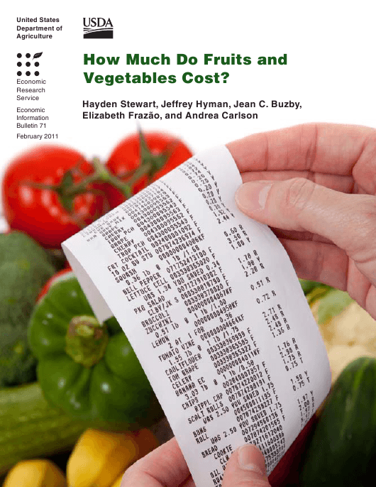 """""""Economic Information Bulletin 71: How Much Do Fruits and Vegetables Cost?"""" Download Pdf"""