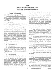 """""""Title 51 - Public Health - Sanitary Code - Part Xxiii. Retail Food Establishments"""" - Louisiana"""