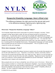 """""""Respectful Disability Language: Here's What's up! - Nyln, Kasa"""""""