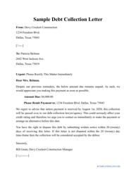 "Sample ""Debt Collection Letter"""