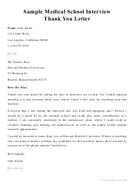 Thank You Interview Letter Templates from data.templateroller.com
