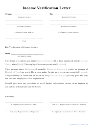 """Income Verification Letter Template"""