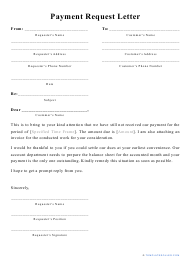 """Payment Request Letter Template"""