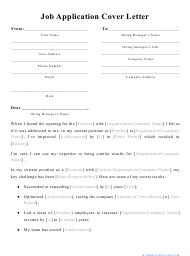 """Job Application Cover Letter Template"""
