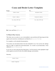 """Cease and Desist Letter Template"""