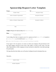 """Sponsorship Request Letter Template"""