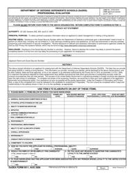 "DoDEA Form 5011 ""Department of Defense Dependents Schools (Dodds) Professional Evaluation"""