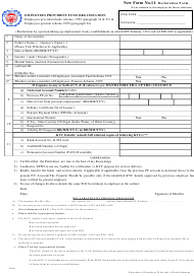 "Form 11 ""Declaration Form"" - India"
