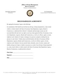 """Hold Harmless Agreement"" - Louisiana"