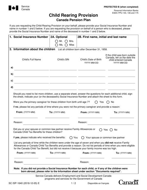 Form SC ISP-1640 Printable Pdf