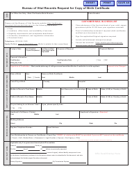 "Form VS-11 ""Application for Certified Copy of Birth Certificate"" - Arizona"