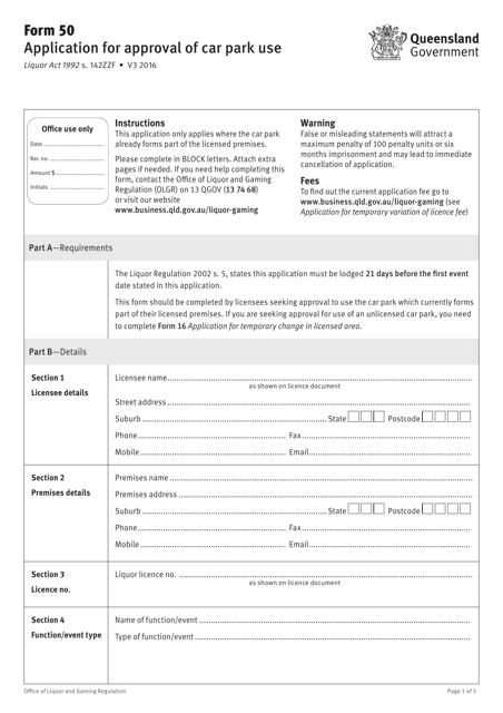 Form 50 Printable Pdf