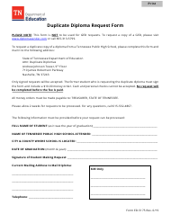 """Form ED-5175 """"Duplicate Diploma Request Form"""" - Tennessee"""
