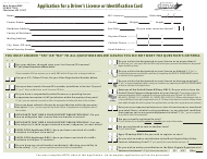 """Form DMV-DS-23P """"Application for a Driver's License or Identification Card"""" - West Virginia"""
