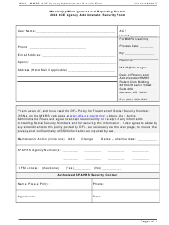 """""""2504 Ace Agency Administrator Security Form"""" - Mississippi"""