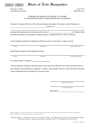"Form FP-4 ""Foreign Partnership Statement of Change of Registered Agent or Registered Office or Both"" - New Hampshire"