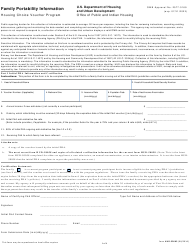 "Form HUD-52665 ""Family Portability Information"""