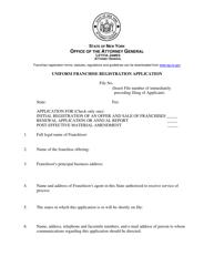 "Form A ""Uniform Franchise Registration Application"" - New York"