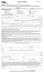 """Form FT462 """"Fuels Tax Bond"""" - Virginia"""
