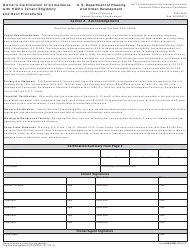 "Form HUD-50059 ""Owner's Certification of Compliance With Hud's Tenant Eligibility and Rent Procedures"""