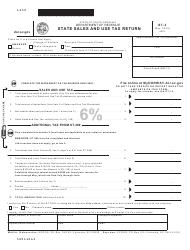 "Form ST-3 ""State Sales and Use Tax Return"" - South Carolina"