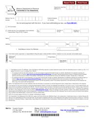 """Form MO W-3 """"Transmittal of Tax Statements"""" - Missouri"""