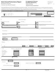 "Form HUD92456 ""Semi-annual Performance Report Multifamily Housing Service Coordinator Program"""