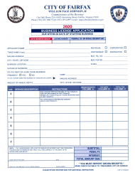 "Form CR-4 ""Business License Application"" - City of Fairfax, Virginia, 2020"