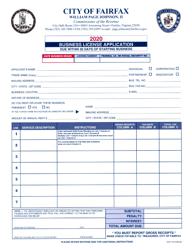 "Form CR-4 ""Business License Application"" - City of Fairfax, Virginia, 2020"