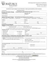 "Form 60-0111 ""Employer's Notice of Change"" - Iowa"